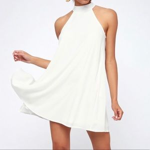 One Clothing White Mini Shift Dress